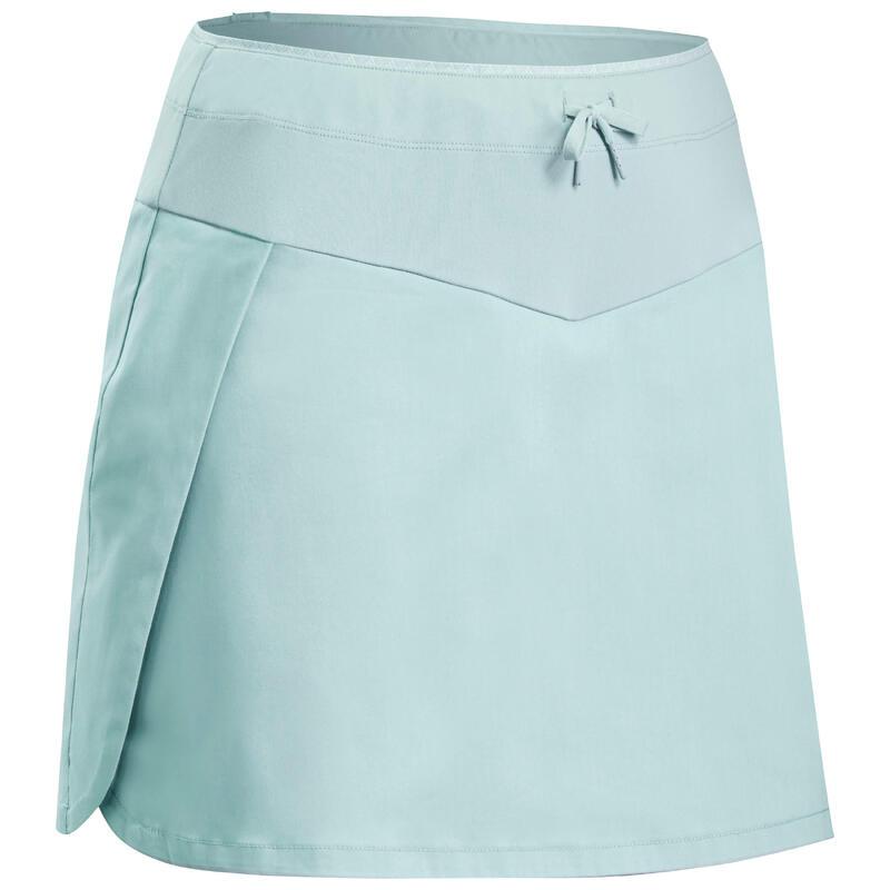Dámská turistická sukně s kraťasy NH 100 Fresh zelená