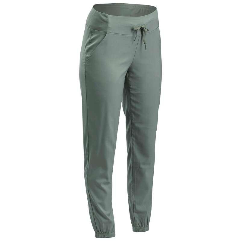 WOMEN NATURE HIKING PANTS Hiking - Trousers NH100 - Khaki QUECHUA - Hiking Clothes