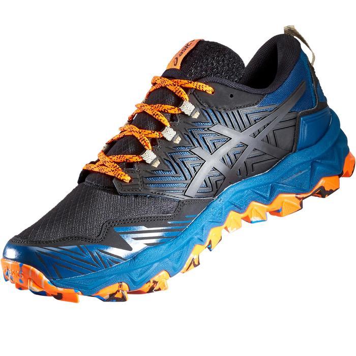 Trailschoenen voor heren Asics Gel FujiTrabuco 8 blauw oranje