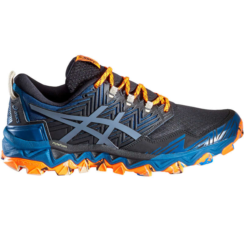 MAN TRAIL RUNNING SHOES Shoes - GEL FUJITRABUCO 8 M BLUE ORANG ASICS - By Sport