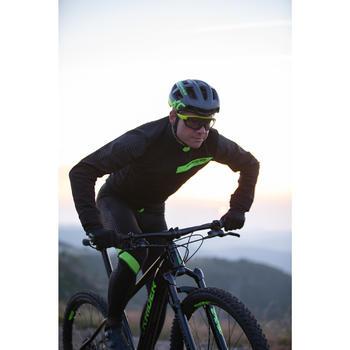 Mountainbikejas XC slim fit zwart/geel