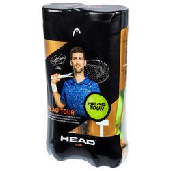 BALLE DE TENNIS HEAD TOUR *4 BIPACK JAUNE SPEED