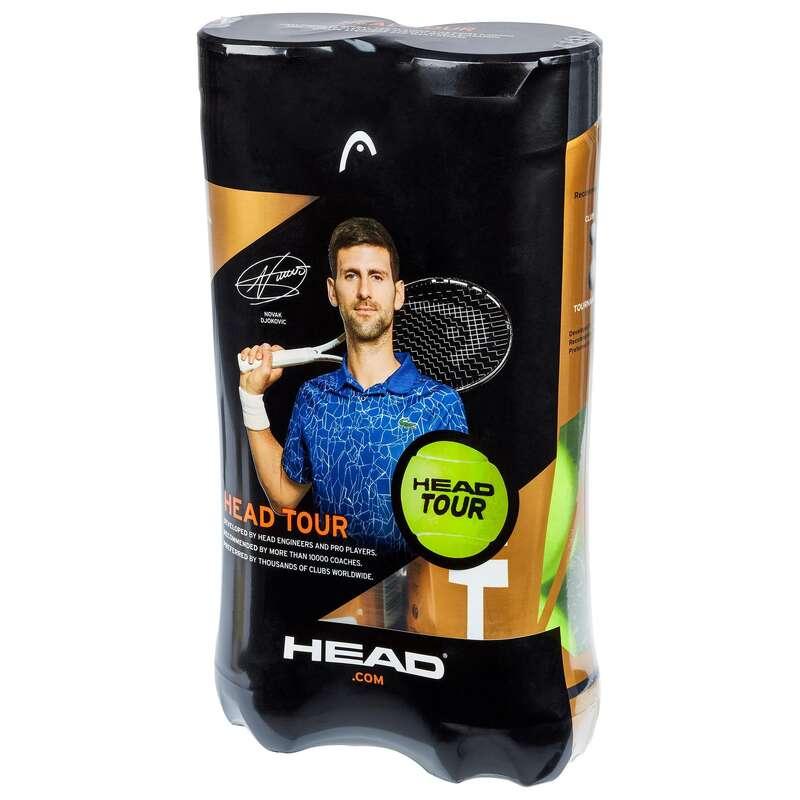 PIŁKI TENISOWE Tenis - Piłki TOUR *4 BIPACK żółte HEAD - Sprzęt do tenisa