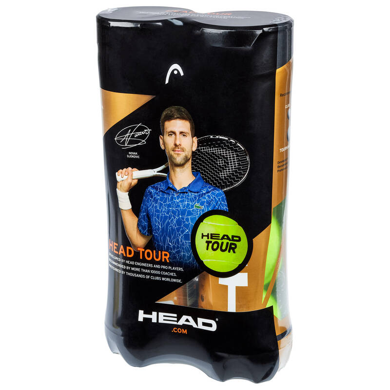TENISOVÉ MÍČKY Raketové sporty - TENISOVÉ MÍČKY TOUR 2 × 4 KS HEAD - Tenis