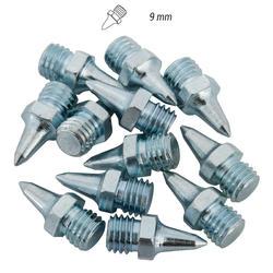 Set 12 chiodi esagonali atletica 9mm acciaio