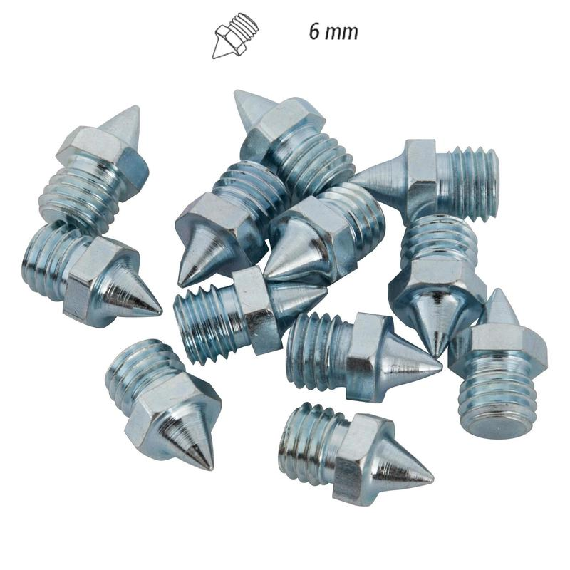 SET OF 12 STEEL SPIKES 6 MM FOR ATHLETICS SHOES