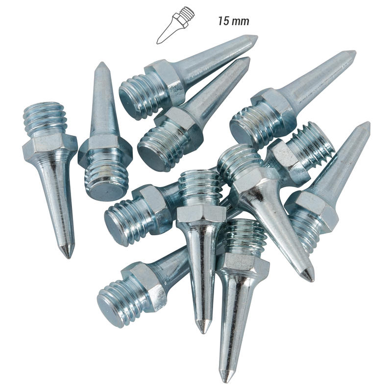 SET OF 12 15MM HEX SPIKES FOR TRACK AND FIELD SHOES