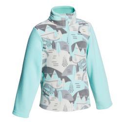 兒童款2至6歲健行刷毛衣MH 100-綠色
