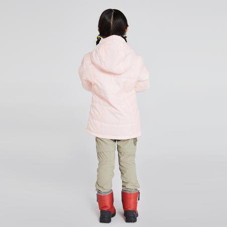 Chamarra de senderismo nieve júnior SH100 warm rosa