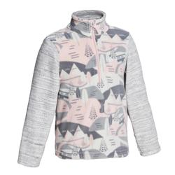 Kids' 2-6 Years Hiking Fleece CN MH100 - Pink Print