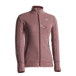 Women's Mountain Walking Fleece Jacket MH120 - Maroon