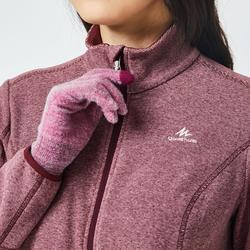 Women's Mountain Walking Fleece Jacket MH120 - Maroon
