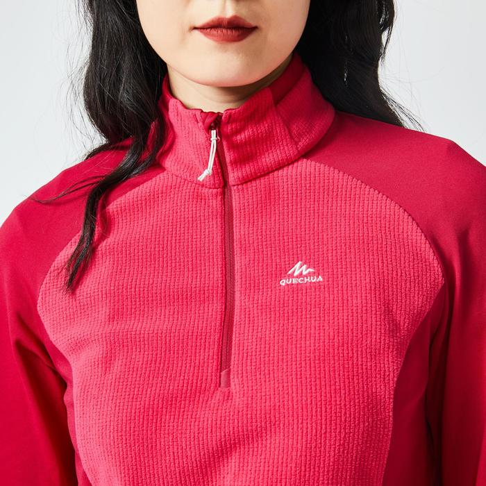 Women's Mountain Walking Fleece MH500 - Strawberry Pink
