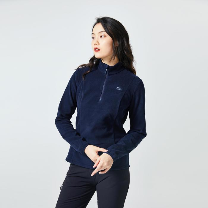 Women's Mountain Walking Fleece MH120 - Black