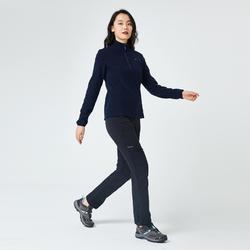Women's Mountain Walking Fleece MH120 - Black