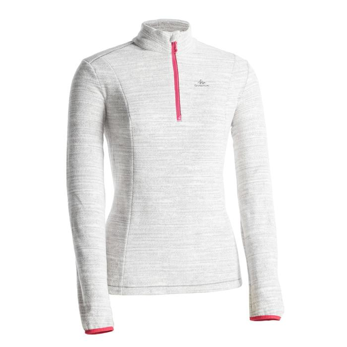 Women's mountain walking fleece MH100 Grey