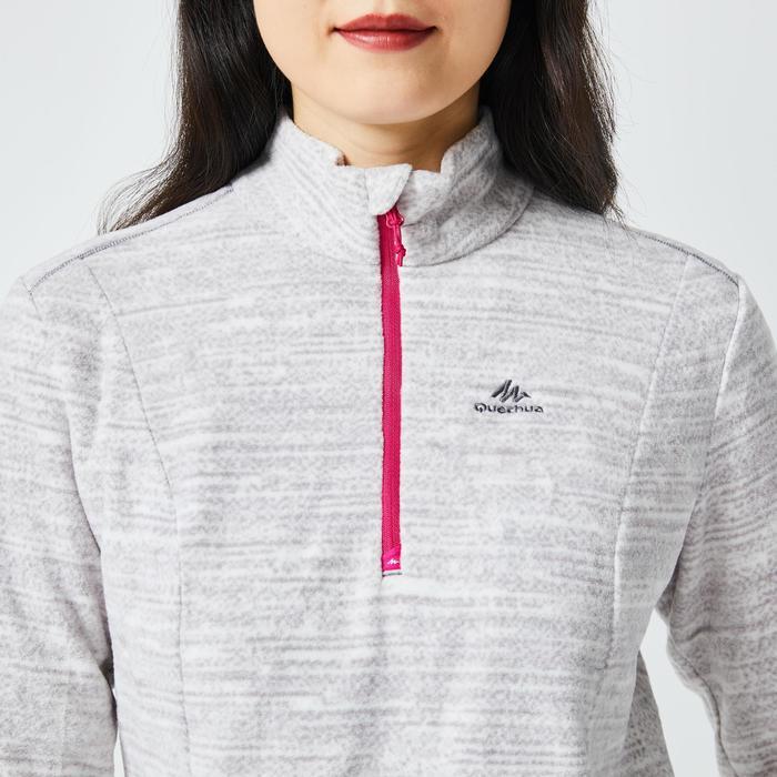 女款登山健行刷毛MH100-灰色
