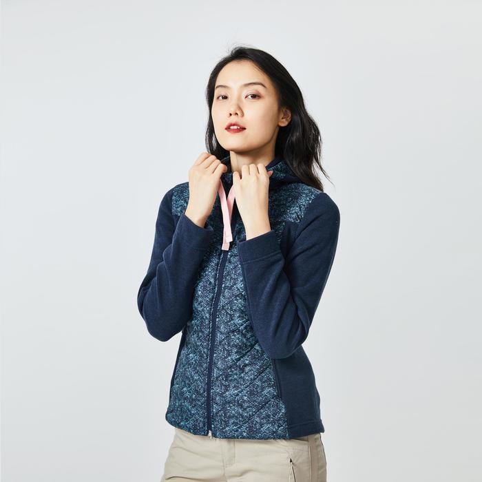 女款郊野健行混合運動衫NH100