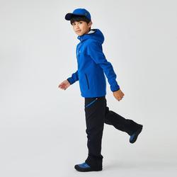 Kids' 7-15 Years Hiking Softshell Jacket MH550 - Grey