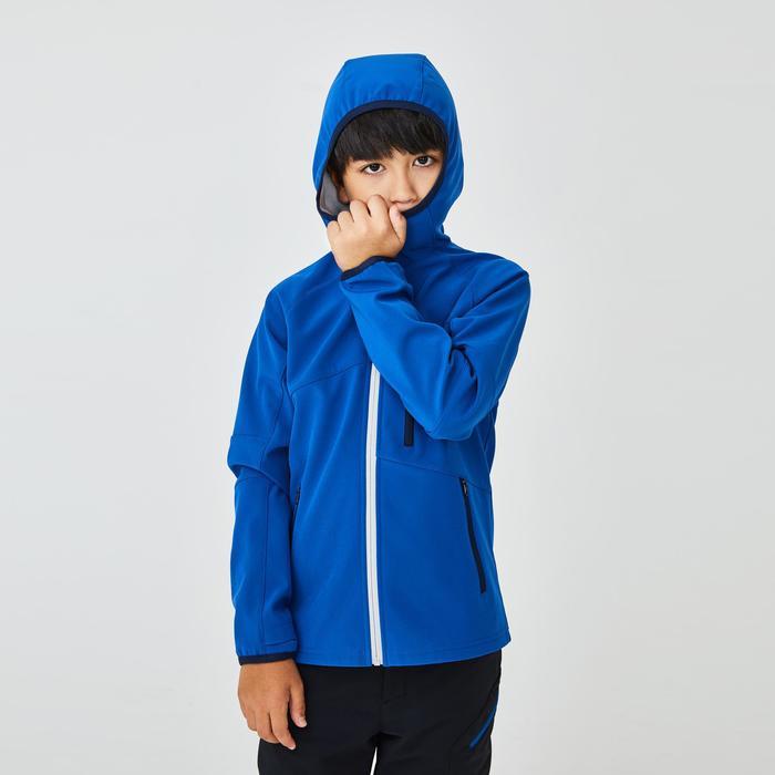 7到15歲兒童款健行軟殼外套MH550-灰色