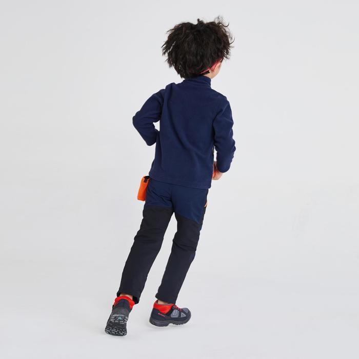 兒童款2至6歲健行刷毛外套MH150-軍藍色