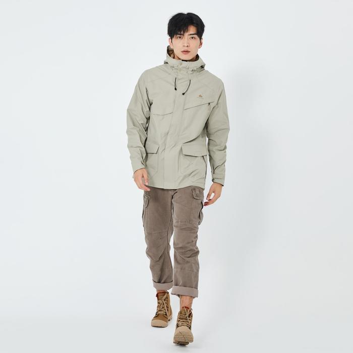男款防水防護件型外套NH500-米色