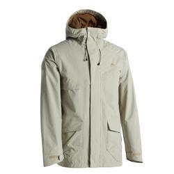 Men's Protective Waterproof Hiking Jacket CN NH500 - Beige