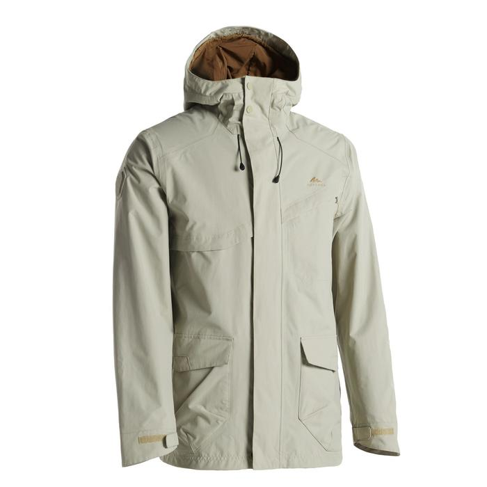 Men's Waterproof Hiking Jacket NH550 CN - Beige