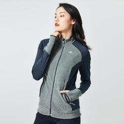 Women's Mountain Walking Fleece Jacket MH520 - Grey Khaki