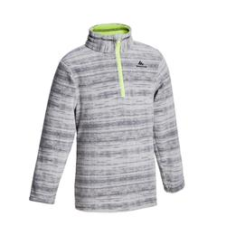 KIDS' CN HIKING FLEECE MH 100 - GREY 2-6 years