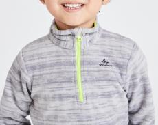 迪卡儂兒童環保登山刷毛衣