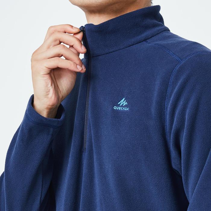 Men's mountain walking fleece MH100 - Blue