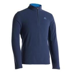 Men's mountain walking fleece MH100 - Blue