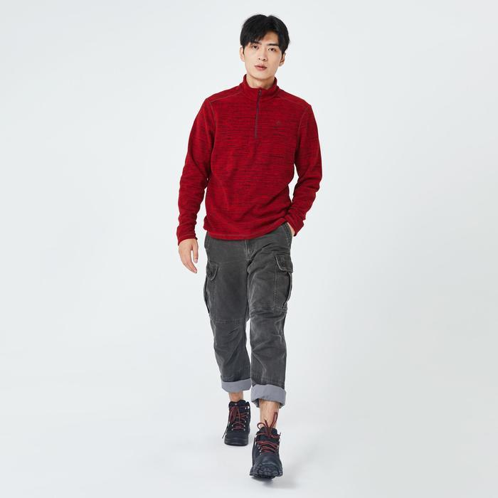 Men's mountain walking fleece MH100 - Red