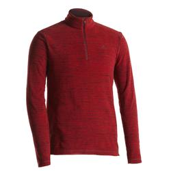 Men's mountain walking fleece MH100 - Red