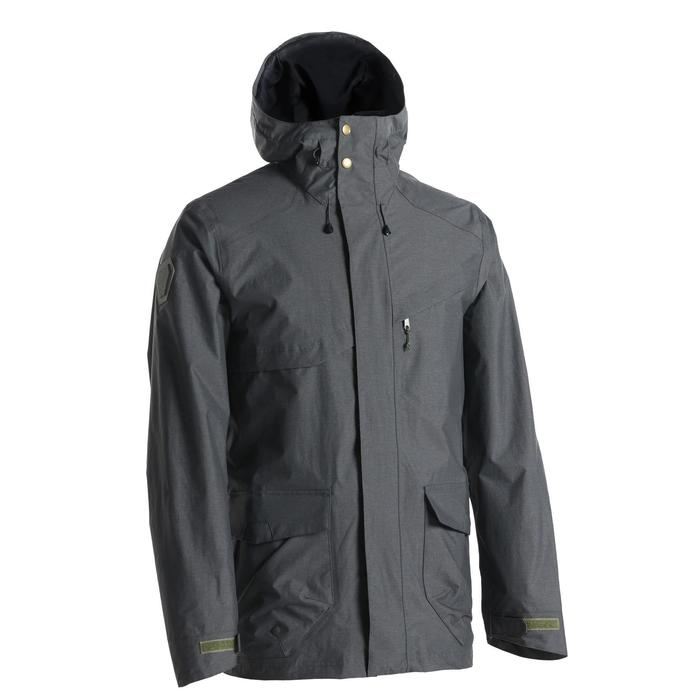 男款郊野健行防水外套NH500 Protect-灰色