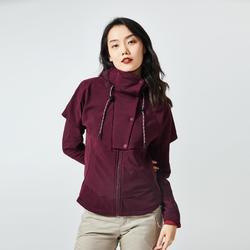 女款混合運動衫NH500-酒紅色