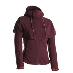 Women's Hiking Sweatshirt NH500 Hybrid - Burgundy