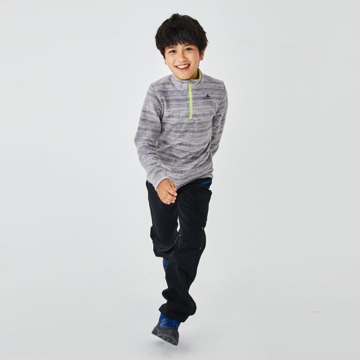 7至15歲兒童款健行刷毛衣MH100-灰色