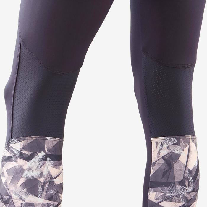 Legging synthétique respirant S500 fille GYM ENFANT gris imprimé rose