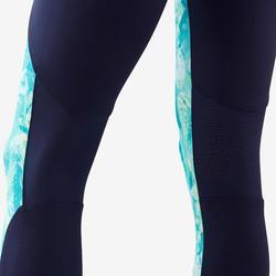 Legging synthétique respirant S500 fille GYM ENFANT vert et bleu imprimé