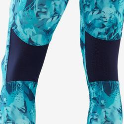 Legging synthétique respirant S500 fille GYM ENFANT bleu imprimé