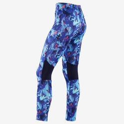 Legging synthétique respirant S500 fille GYM ENFANT violet imprimé