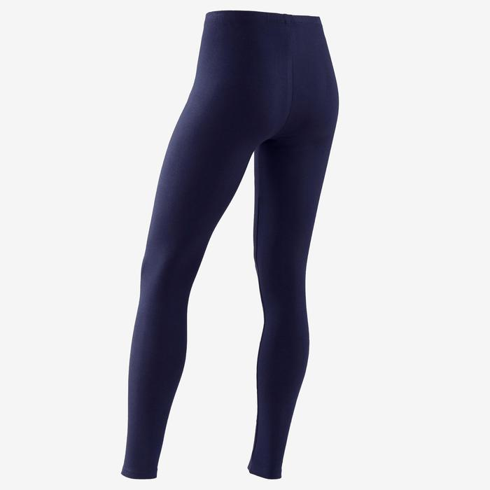 Legging voor gym meisjes 100 marineblauw