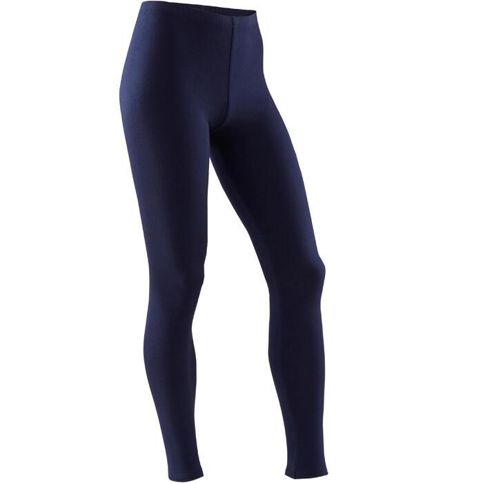 Legging fille coton - Basique bleu marine