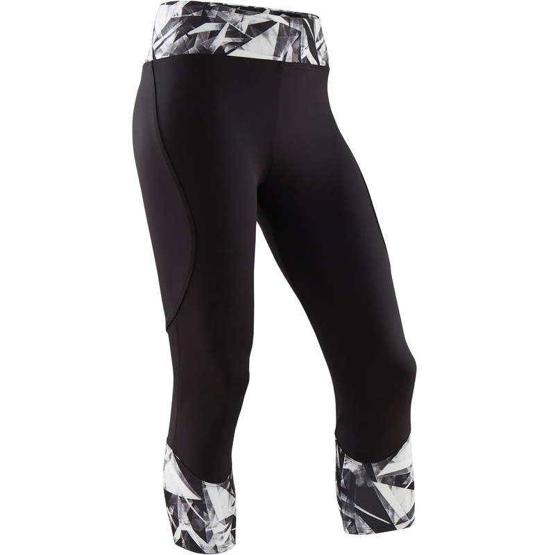 GIRL EDUCATIONAL GYM APPAREL Fitness and Gym - Girls' Cropped Bottoms S500 DOMYOS - Gym Activewear