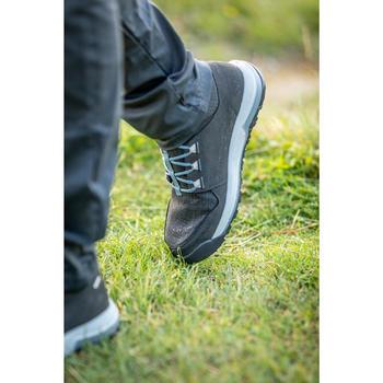 女款郊野健行防水中筒靴NH500-灰色