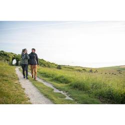 Wanderschuhe Naturwandern NH500 Mid wasserdicht Herren braun