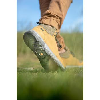 Chaussures de randonnée nature NH500 mid imperméables marron homme