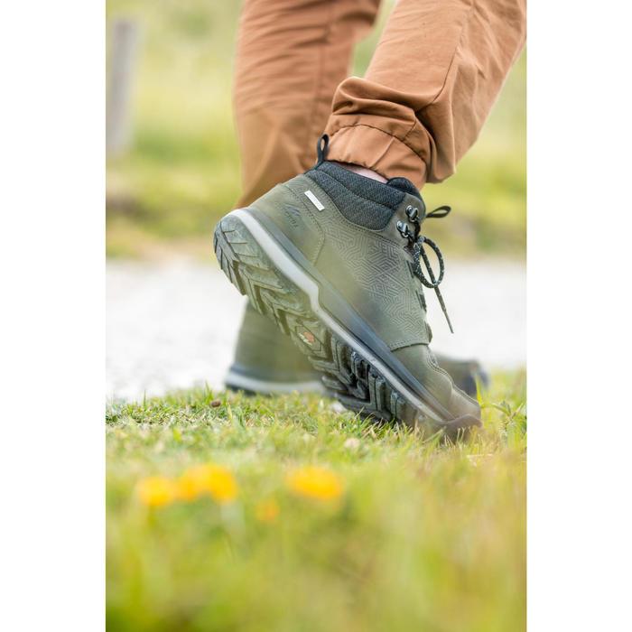 Wanderschuhe Naturwandern NH500 Mid wasserdicht Herren khaki